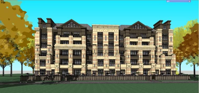 哈尔滨·绿地·海域岛屿墅建筑模型设计-海域岛屿墅a