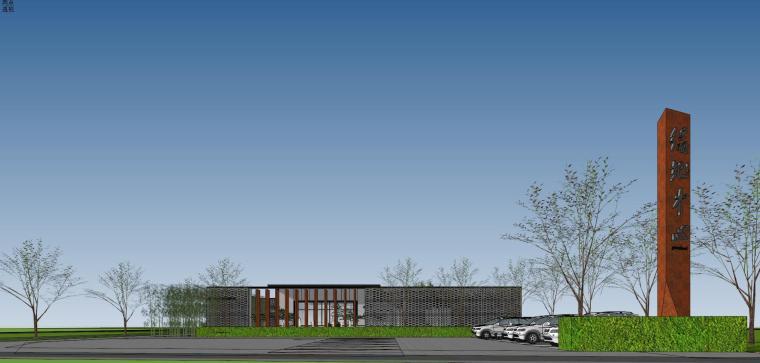 住宅中心售楼处建筑模型设计(中式风格)-知名地产中心售楼处 模型(过程) (2)