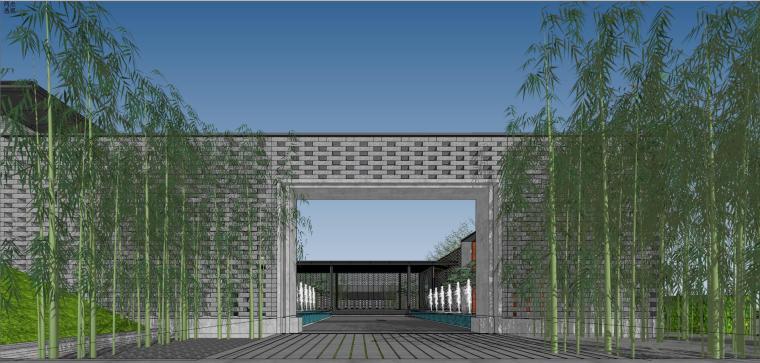 住宅中心售楼处建筑模型设计(中式风格)-知名地产中心售楼处 模型(过程) (3)