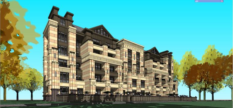 哈尔滨·绿地·海域岛屿墅建筑模型设计-海域岛屿墅b