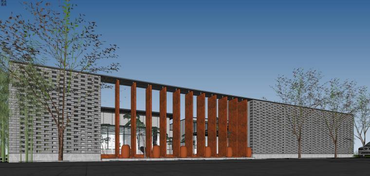 住宅中心售楼处建筑模型设计(中式风格)-知名地产中心售楼处 模型(过程) (6)