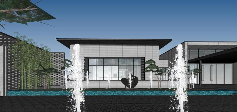 住宅中心售楼处建筑模型设计(中式风格)-知名地产中心售楼处 模型(过程) (7)