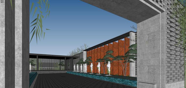 住宅中心售楼处建筑模型设计(中式风格)-知名地产中心售楼处 模型(过程) (4)