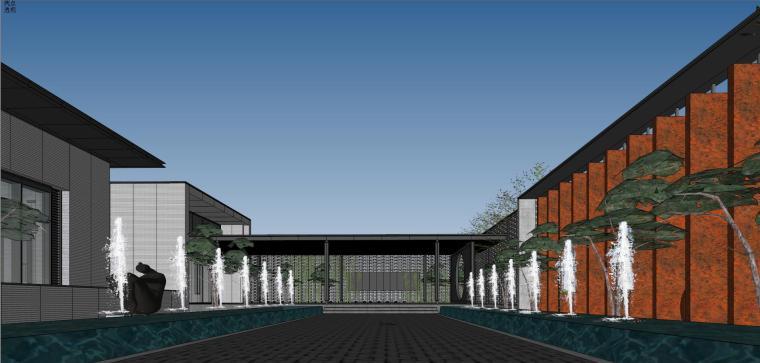 住宅中心售楼处建筑模型设计(中式风格)-知名地产中心售楼处 模型(过程) (5)