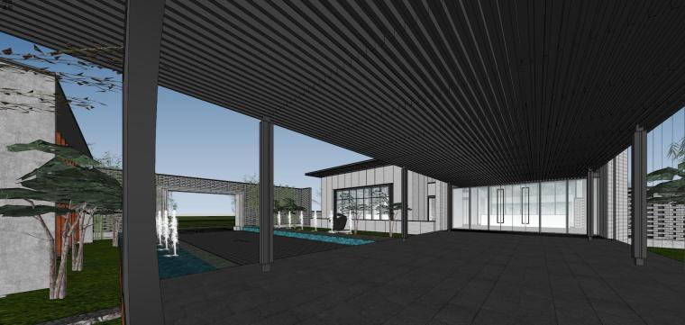 住宅中心售楼处建筑模型设计(中式风格)-知名地产中心售楼处 模型(过程) (8)