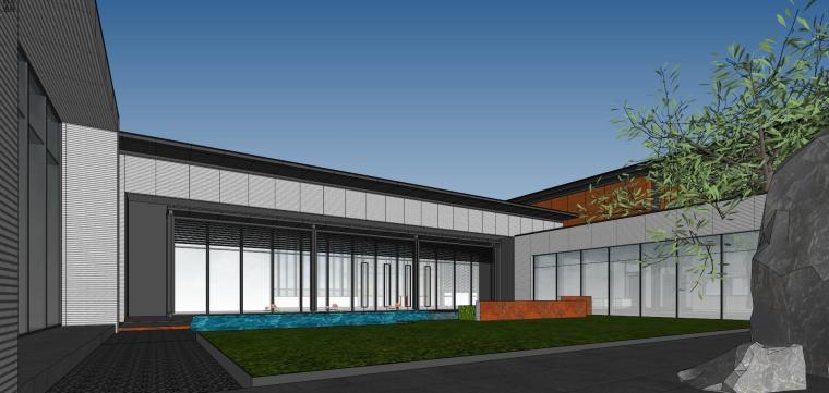 住宅中心售楼处建筑模型设计(中式风格)-知名地产中心售楼处 模型(过程) (9)