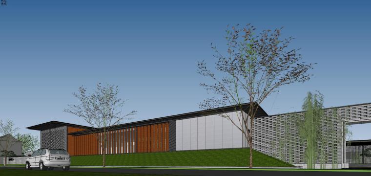 住宅中心售楼处建筑模型设计(中式风格)-知名地产中心售楼处 模型(过程) (10)