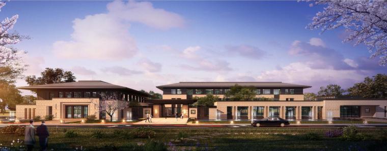[河南]郑州凤凰岛国宾馆建筑模型设计(中式风格)-知名地产郑州凤凰岛国宾馆 中式最终 (5)