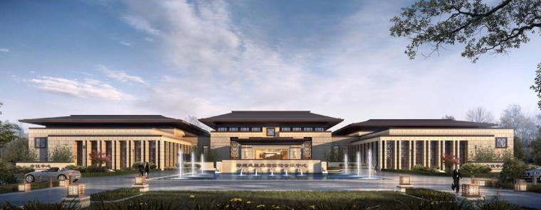 [河南]郑州凤凰岛国宾馆建筑模型设计(中式风格)-知名地产郑州凤凰岛国宾馆 中式最终 (3)