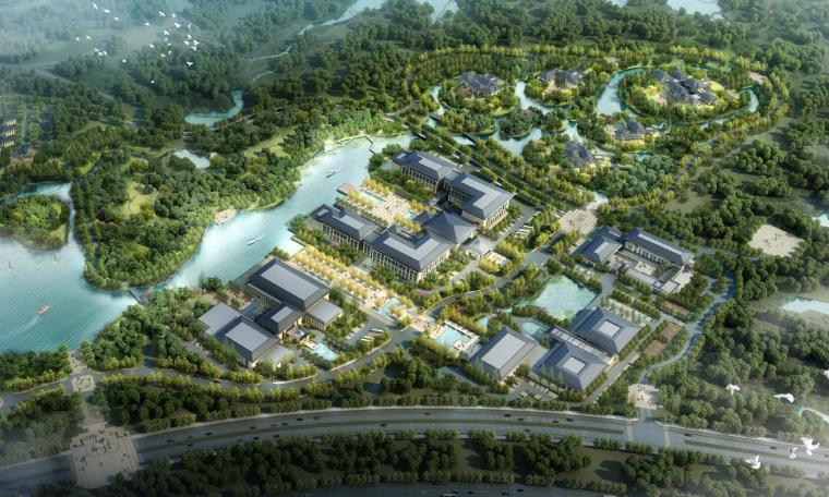 [河南]郑州凤凰岛国宾馆建筑模型设计(中式风格)?