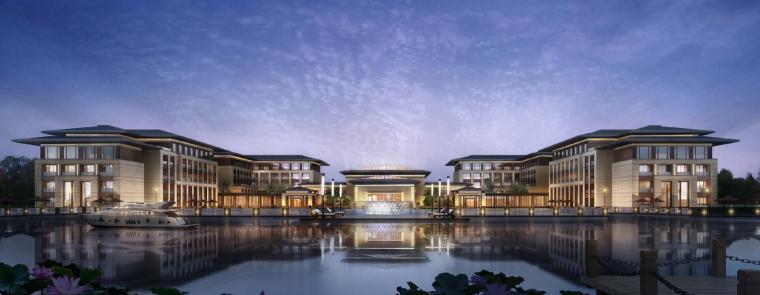 [河南]郑州凤凰岛国宾馆建筑模型设计(中式风格)-知名地产郑州凤凰岛国宾馆 中式最终 (2)