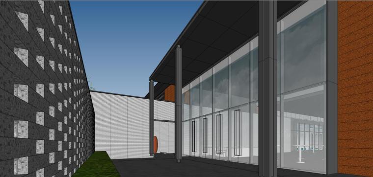 住宅中心售楼处建筑模型设计(中式风格)-知名地产中心售楼处 模型(过程) (11)