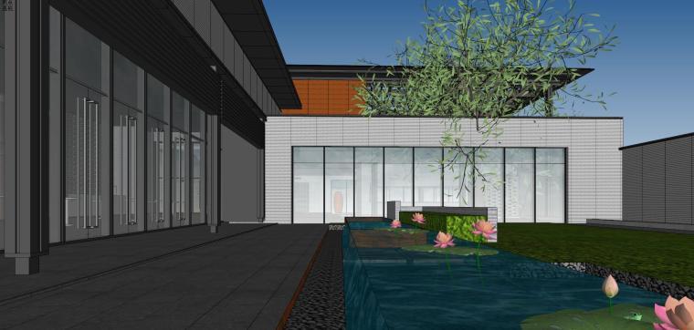 住宅中心售楼处建筑模型设计(中式风格)-知名地产中心售楼处 模型(过程) (14)