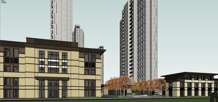 [上海]绿地理想家绿地璀璨天城居住区建筑模型设计(新中式风格)-知名地产理想家海知名地产璀璨天城 (3)