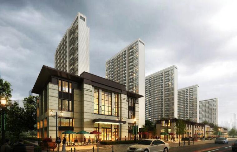 [上海]绿地理想家绿地璀璨天城居住区建筑模型设计(新中式风格)-知名地产理想家海知名地产璀璨天城 (2)