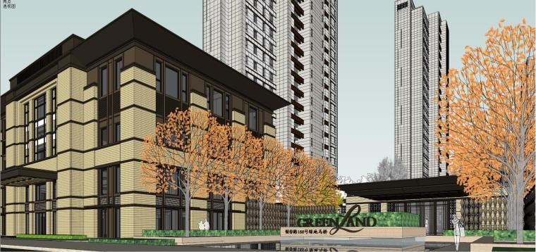 [上海]绿地理想家绿地璀璨天城居住区建筑模型设计(新中式风格)-知名地产理想家海知名地产璀璨天城 (4)