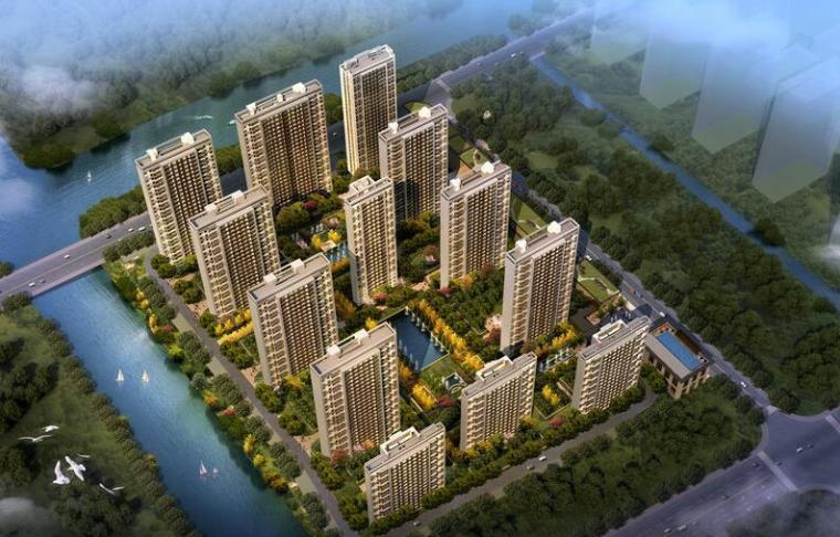 [上海]绿地理想家绿地璀璨天城居住区建筑模型设计(新中式风格)-知名地产理想家海知名地产璀璨天城 (1)
