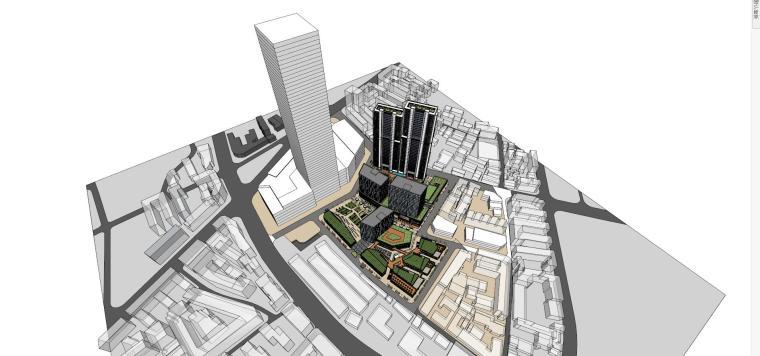 [江西]绿地南昌象山公馆建筑模型设计(现代风格)