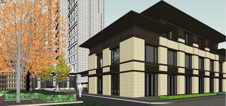 [上海]绿地理想家绿地璀璨天城居住区建筑模型设计(新中式风格)-知名地产理想家海知名地产璀璨天城 (6)