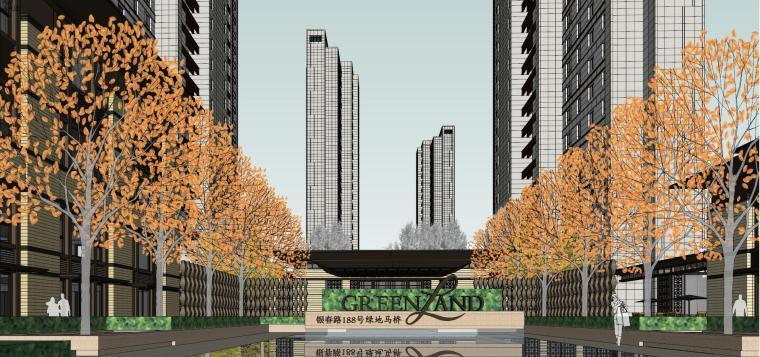 [上海]绿地理想家绿地璀璨天城居住区建筑模型设计(新中式风格)-知名地产理想家海知名地产璀璨天城 (5)