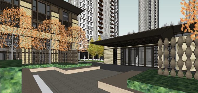 [上海]绿地理想家绿地璀璨天城居住区建筑模型设计(新中式风格)-知名地产理想家海知名地产璀璨天城 (8)