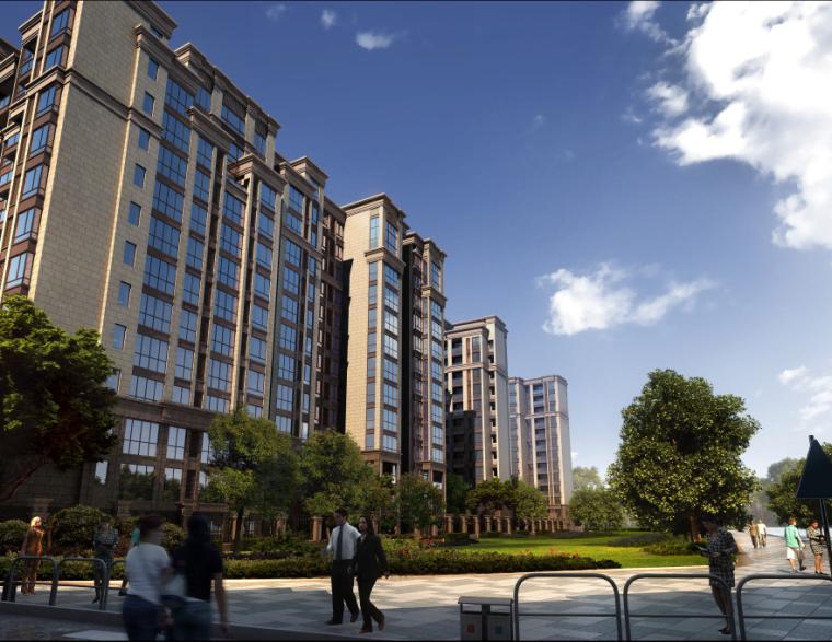 [四川]成都绿地铂朗郡住宅建筑模型设计(法式风格)-成都知名地产铂朗郡-法式 (3)