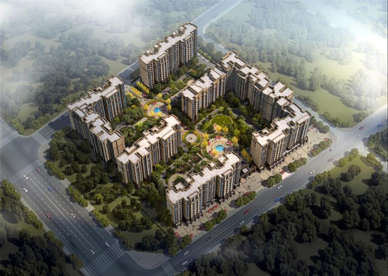 [四川]成都绿地铂朗郡住宅建筑模型设计(法式风格)-成都知名地产铂朗郡-法式 (2)