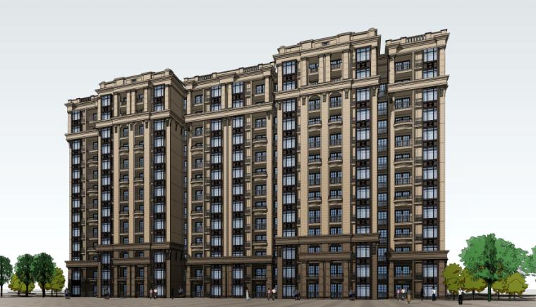[四川]成都绿地铂朗郡住宅建筑模型设计(法式风格)-成都知名地产铂朗郡-法式 (5)