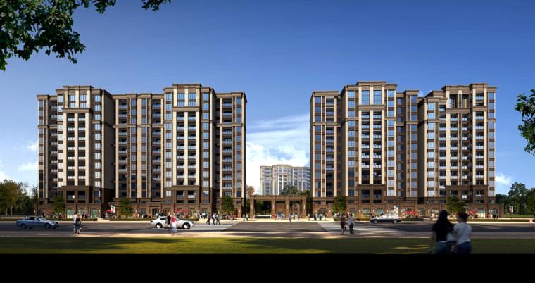 [四川]成都绿地铂朗郡住宅建筑模型设计(法式风格)-成都知名地产铂朗郡-法式 (4)