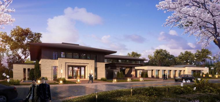 [河南]郑州凤凰岛国宾馆建筑模型设计(中式风格)-知名地产郑州凤凰岛国宾馆 中式最终 (6)