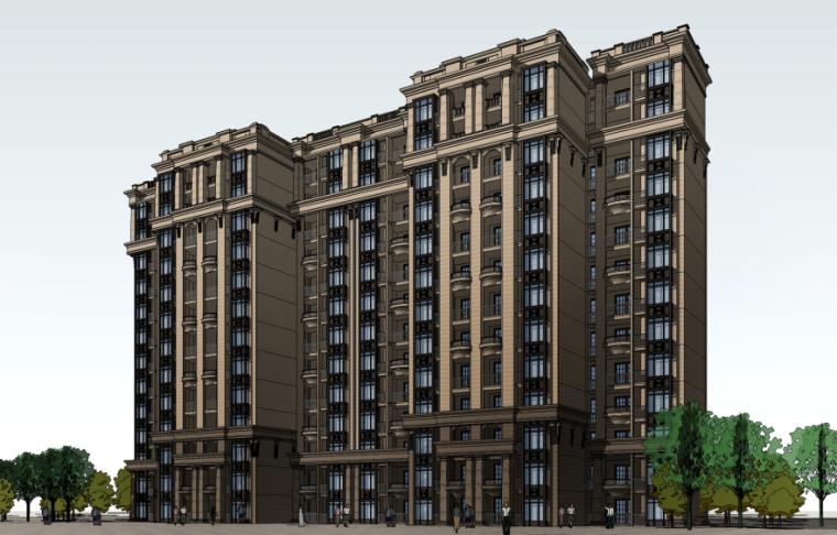 [四川]成都绿地铂朗郡住宅建筑模型设计(法式风格)-成都知名地产铂朗郡-法式 (6)