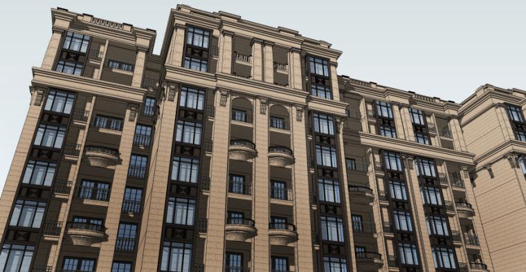 [四川]成都绿地铂朗郡住宅建筑模型设计(法式风格)-成都知名地产铂朗郡-法式 (8)