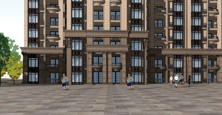 [四川]成都绿地铂朗郡住宅建筑模型设计(法式风格)-成都知名地产铂朗郡-法式 (9)