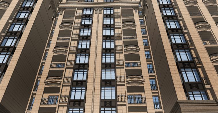 [四川]成都绿地铂朗郡住宅建筑模型设计(法式风格)-成都知名地产铂朗郡-法式 (11)