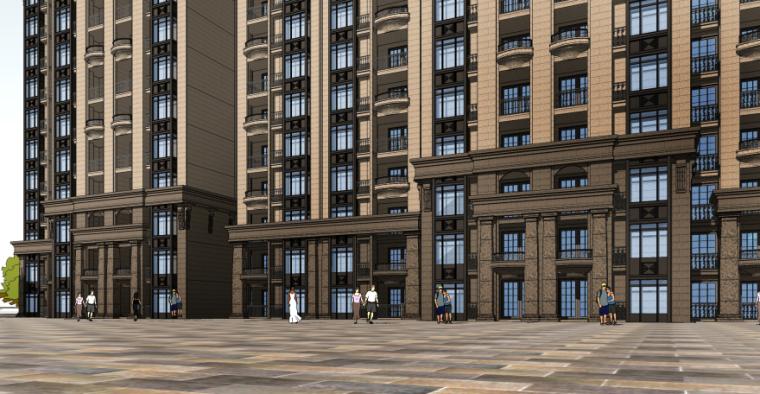 [四川]成都绿地铂朗郡住宅建筑模型设计(法式风格)-成都知名地产铂朗郡-法式 (10)