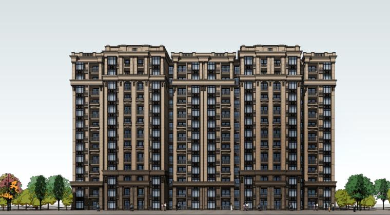[四川]成都绿地铂朗郡住宅建筑模型设计(法式风格)-成都知名地产铂朗郡-法式 (13)