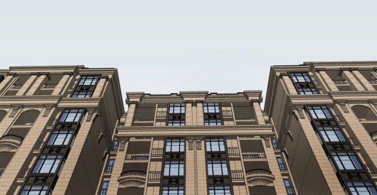 [四川]成都绿地铂朗郡住宅建筑模型设计(法式风格)-成都知名地产铂朗郡-法式 (12)