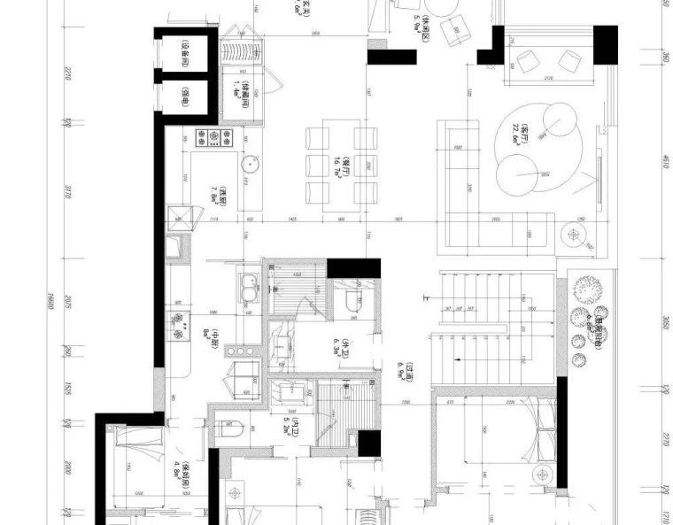 """500㎡""""极简""""别墅大宅设计,最简洁的状态来传达空间的故事!_30"""