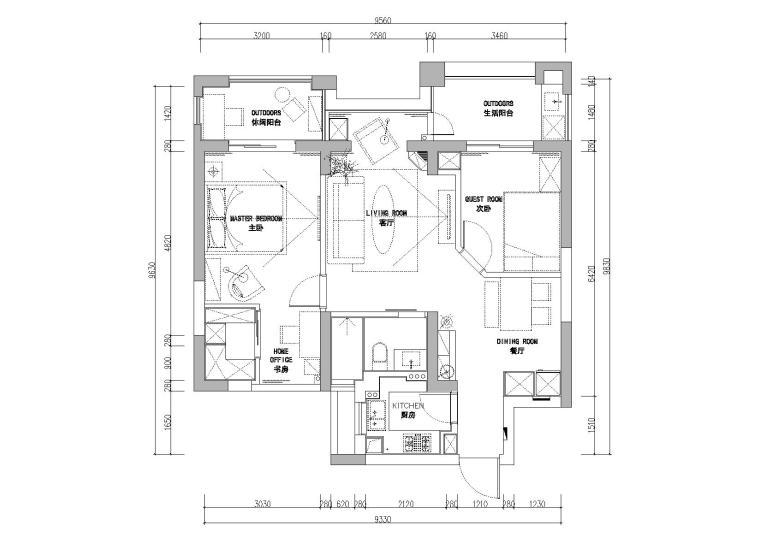 [浙江]杭州德圣博奥城样板间CAD施工图+实景