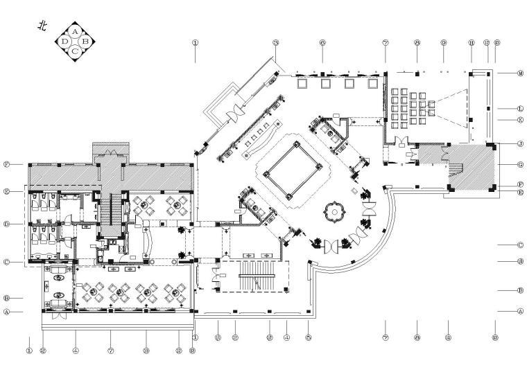 [江苏]香溪美地售楼会所CAD施工图+效果图