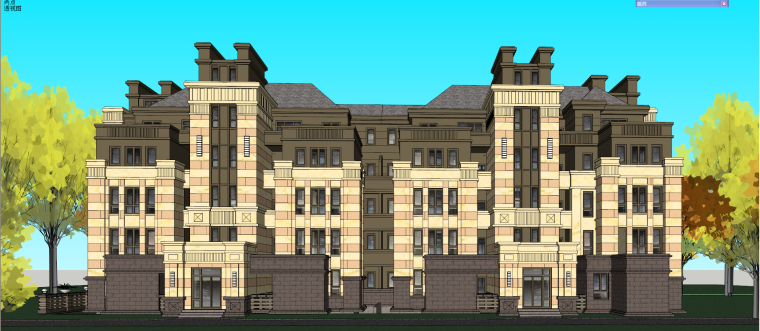 哈尔滨·绿地·海域岛屿墅建筑模型设计-海域岛屿墅d