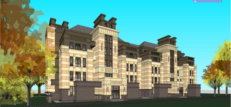 哈尔滨·绿地·海域岛屿墅建筑模型设计-海域岛屿墅e