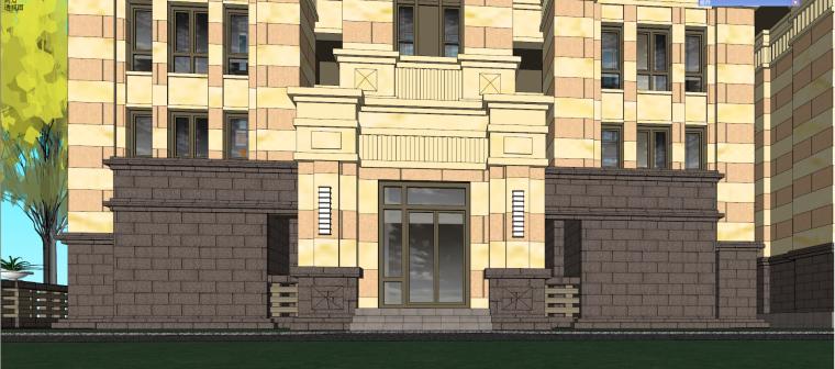 哈尔滨·绿地·海域岛屿墅建筑模型设计-海域岛屿墅f