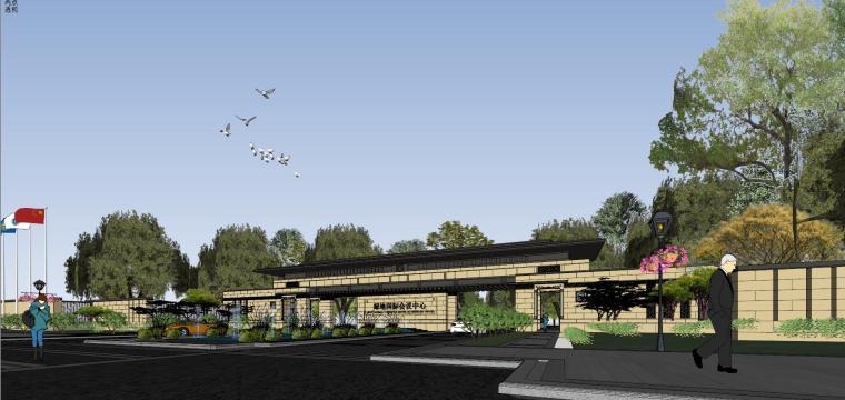 [河南]郑州凤凰岛国宾馆建筑模型设计(中式风格)-知名地产郑州凤凰岛国宾馆 中式最终 (11)