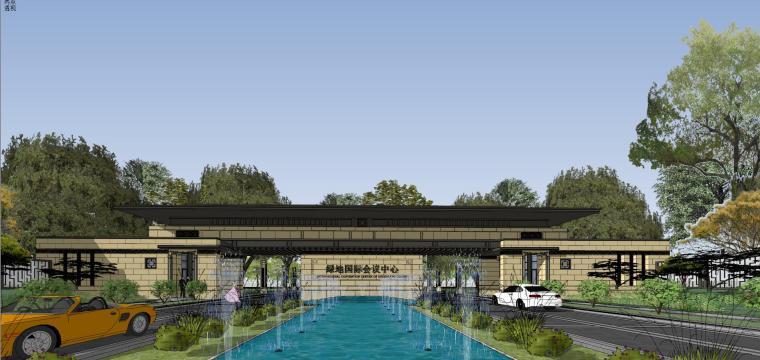 [河南]郑州凤凰岛国宾馆建筑模型设计(中式风格)-知名地产郑州凤凰岛国宾馆 中式最终 (12)