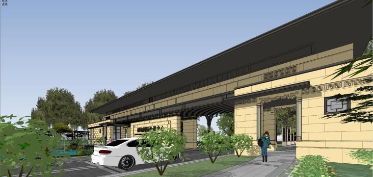 [河南]郑州凤凰岛国宾馆建筑模型设计(中式风格)-知名地产郑州凤凰岛国宾馆 中式最终 (13)