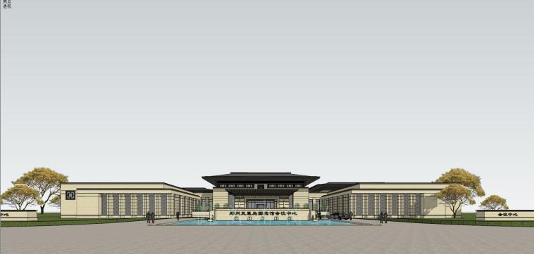 [河南]郑州凤凰岛国宾馆建筑模型设计(中式风格)-知名地产郑州凤凰岛国宾馆 中式最终 (14)