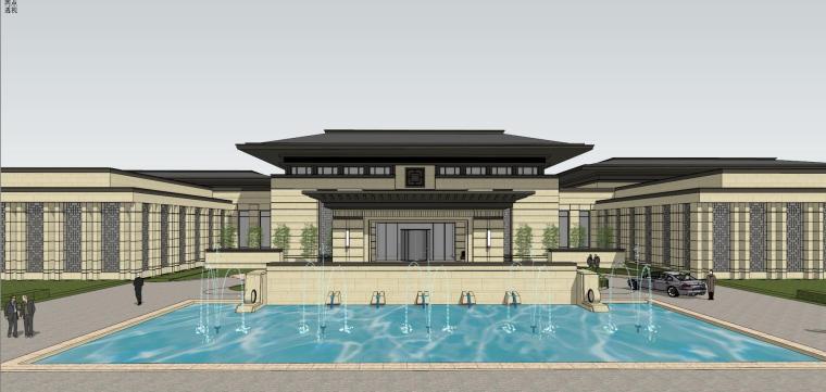 [河南]郑州凤凰岛国宾馆建筑模型设计(中式风格)-知名地产郑州凤凰岛国宾馆 中式最终 (15)