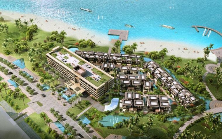 [海南]绿地三亚·悦澜湾高端度假别墅酒店公寓商业建筑模型(新亚洲风格)