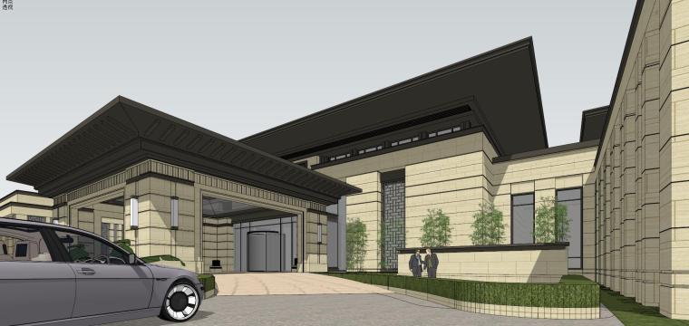 [河南]郑州凤凰岛国宾馆建筑模型设计(中式风格)-知名地产郑州凤凰岛国宾馆 中式最终 (16)